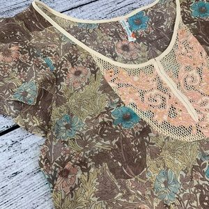 Free People, sheer, fall floral dress / tunic, 12